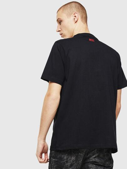 Diesel - T-JUST-J9, Negro/ Rojo - Camisetas - Image 3