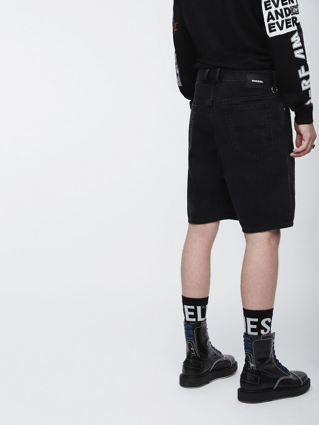Diesel - D-WILLOH, Negro - Shorts - Image 3