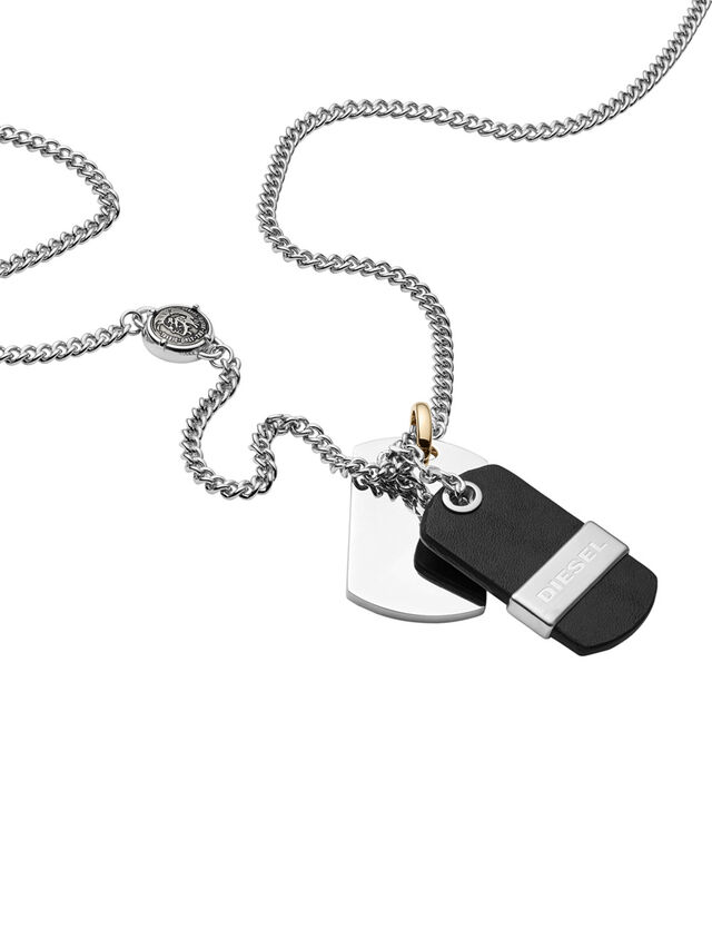 Diesel - NECKLACE DX1084, Negro - Collares - Image 2