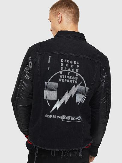 Diesel - D-BLIT, Negro/Gris oscuro - Chaquetas de denim - Image 2