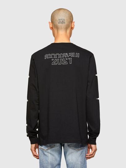 Diesel - CL-T-JUST-LS-O, Negro - Camisetas - Image 3