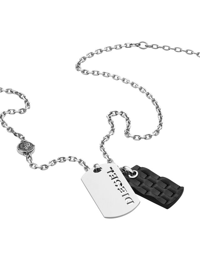 Diesel - NECKLACE DX1014, Plata - Collares - Image 2