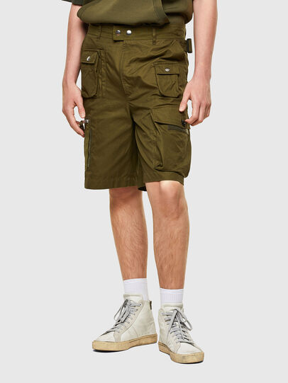 Diesel - P-CYAN-SHORT, Verde Militar - Shorts - Image 1