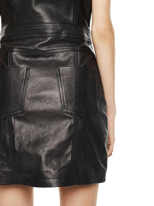 Diesel - DAFFIE, Piel Negra - Vestidos en piel - Image 3