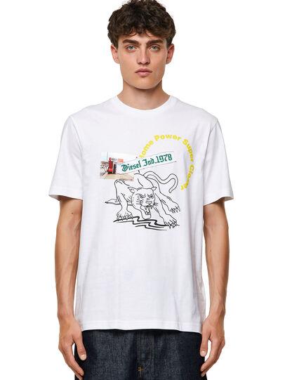 Diesel - T-JUST-B60, Blanco - Camisetas - Image 1