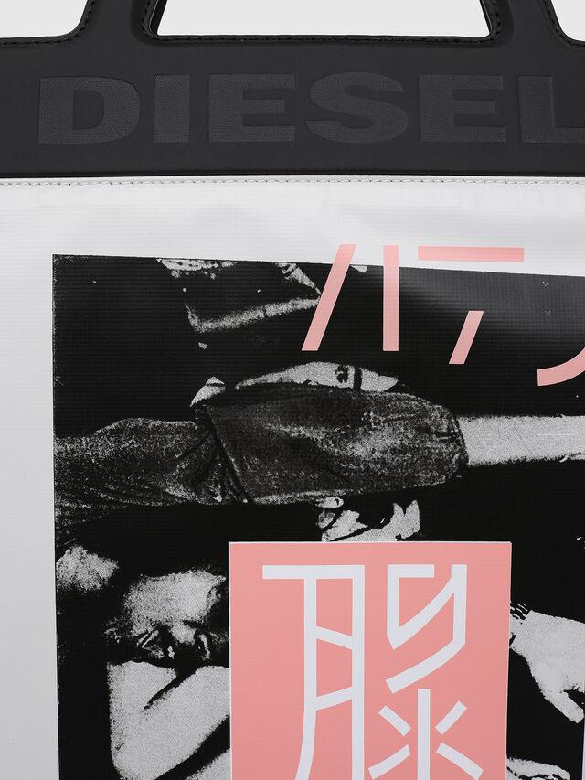 Diesel - F-ARZI SHOPPER, Blanco/Negro - Bolsos Shopper y Al Hombro - Image 4