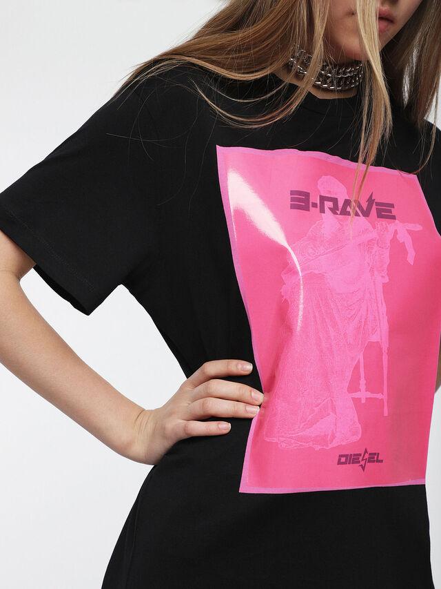 Diesel - T-DARIA-C, Negro/Rosa - Camisetas - Image 3