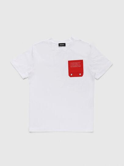 Diesel - TBMOW, Blanco/Rojo - Camisetas y Tops - Image 1