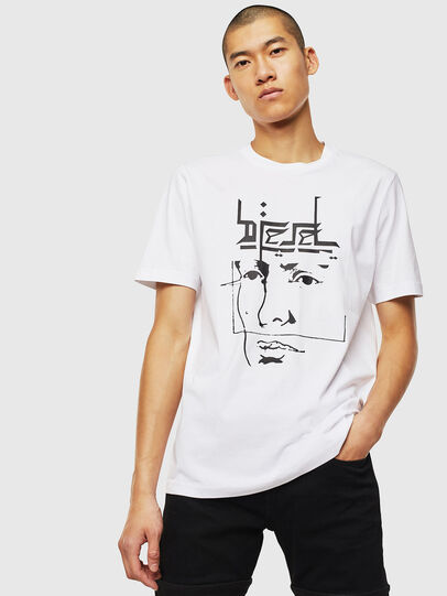 Diesel - T-JUST-J14, Blanco - Camisetas - Image 1
