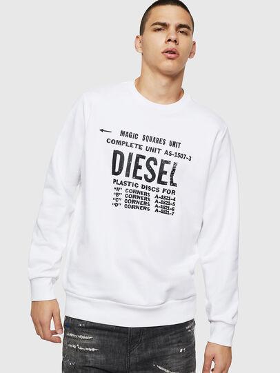 Diesel - S-GIR-B5, Blanco - Sudaderas - Image 1