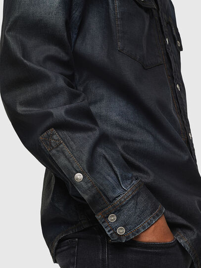 Diesel - D-BANDY-B, Azul Oscuro - Camisas de Denim - Image 3