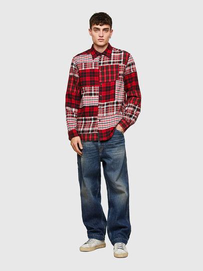 Diesel - S-MORRIS, Rojo/Blanco - Camisas - Image 5