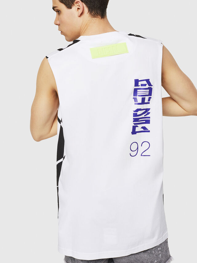 Diesel - T-LUCAS-SL-Y1, Blanco/Negro - Camisetas - Image 2
