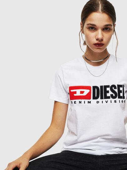 Diesel - T-SILY-DIVISION, Blanco - Camisetas - Image 4