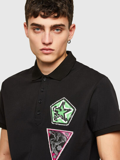 Diesel - T-WEET-E2, Negro - Polos - Image 3
