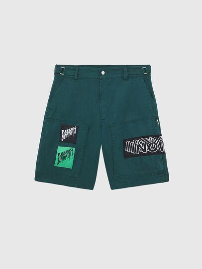 Diesel - P-DUGA-SHO, Verde Oscuro - Shorts - Image 1