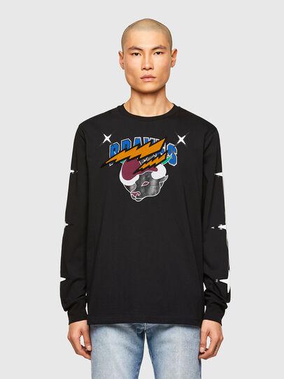 Diesel - CL-T-JUST-LS-O, Negro - Camisetas - Image 1