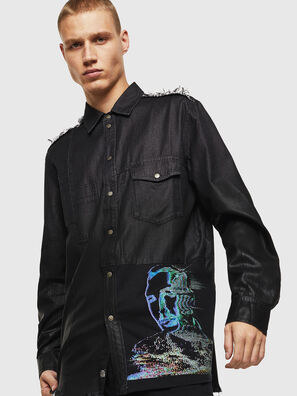 D-FILLY, Negro/Gris oscuro - Camisas de Denim
