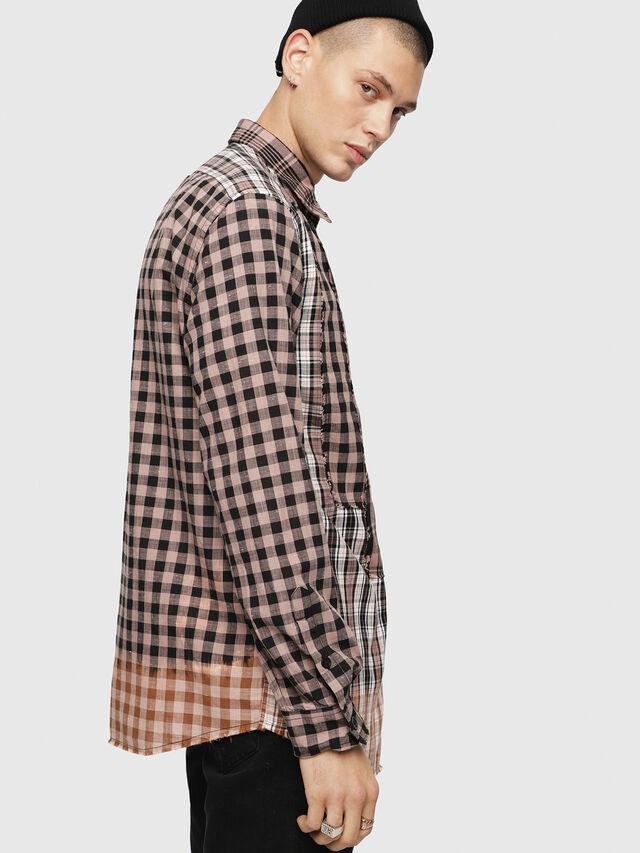 Diesel - S-MADOKA, Negro/Rosa - Camisas - Image 3