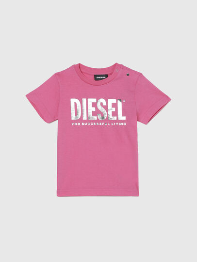 Diesel - TJUSTLOGOB-FL MC, Rosa - Camisetas y Tops - Image 1