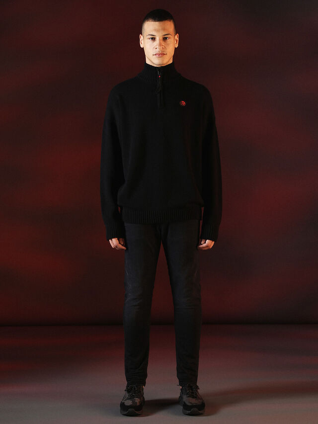 Diesel - DVL-KNIT-SPECIAL COLLECTION, Negro - Punto - Image 4