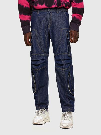 Diesel - D-KARGO, Azul medio - Pantalones - Image 1
