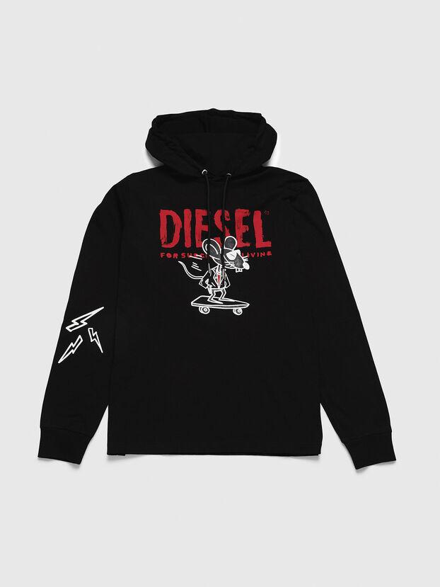 CL-T-JUST-LS-HOOD, Negro - Camisetas