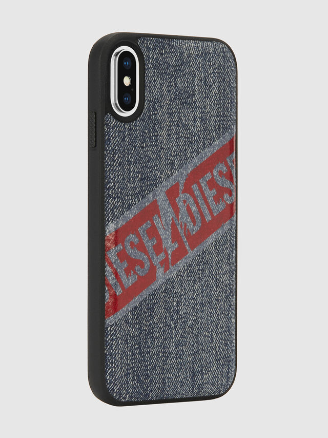 Diesel - VINTAGE DENIM IPHONE X CASE, Blue Jeans - Fundas - Image 6