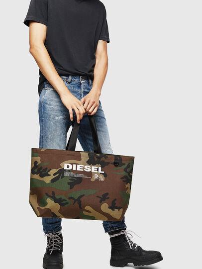 Diesel - D-THISBAG SHOPPER L, Verde Camuflaje - Bolsos Shopper y Al Hombro - Image 6