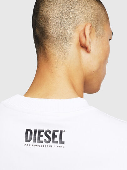 Diesel - S-LINK-MOHAWK, Blanco - Sudaderas - Image 5