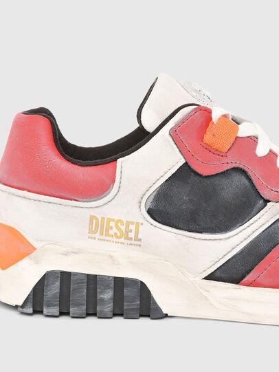 Diesel - S-RUA LOW SK, Blanco/Rojo - Sneakers - Image 4