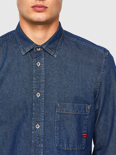 Diesel - D-BILLY, Azul Oscuro - Camisas de Denim - Image 3