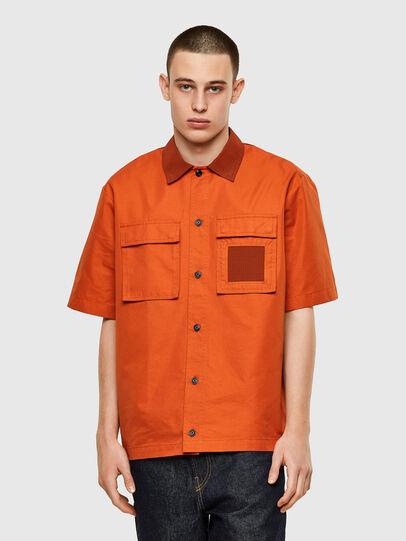 Diesel - S-GUNN, Naranja - Camisas - Image 1