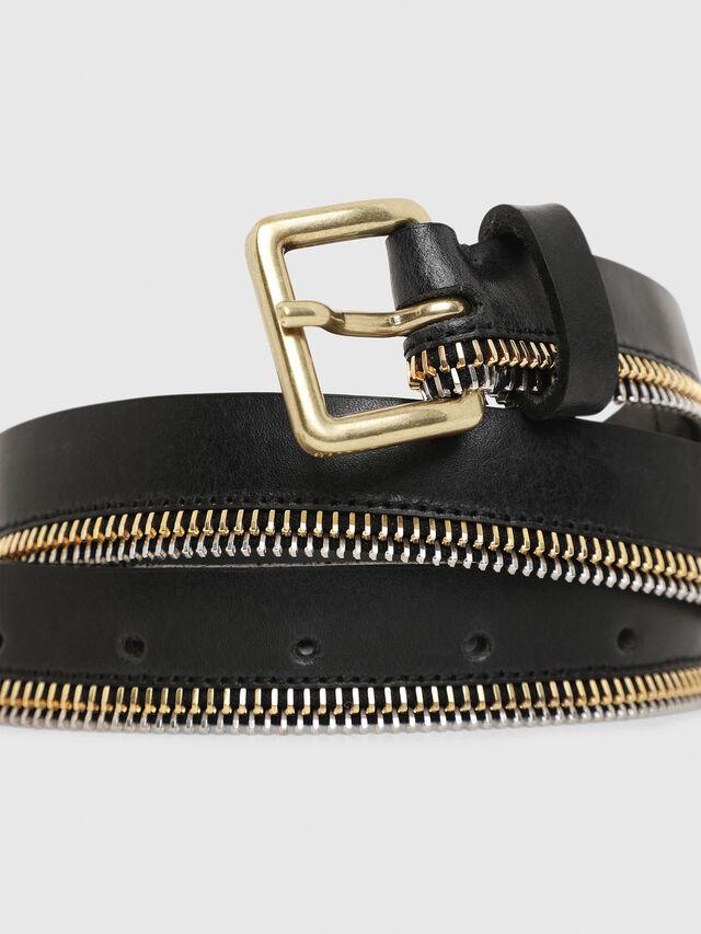 Diesel - B-ZIPPER, Negro - Cinturones - Image 2