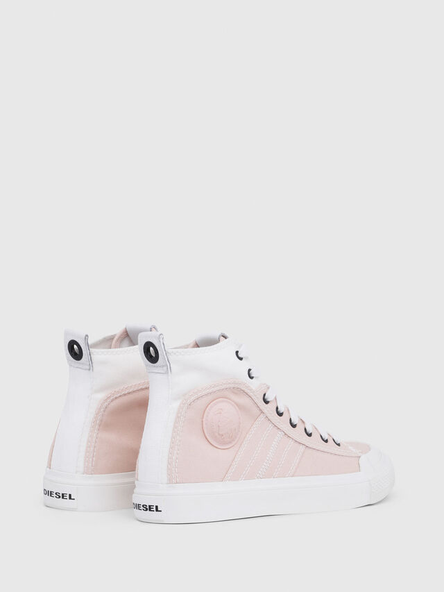 Diesel - S-ASTICO MID LACE W, Rosa/Blanco - Sneakers - Image 3