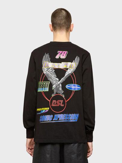 Diesel - T-JUST-LS-E1, Negro - Camisetas - Image 2