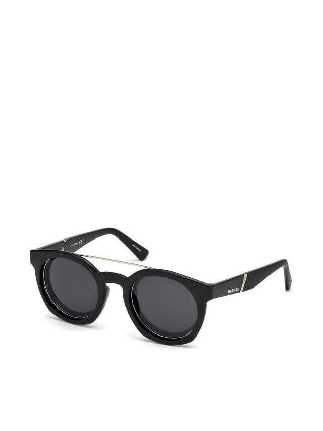 Diesel - DL0251, Negro Brillante - Gafas de sol - Image 4
