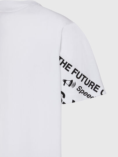 Diesel - T-JUST-FOLDED, Blanco - Camisetas - Image 4