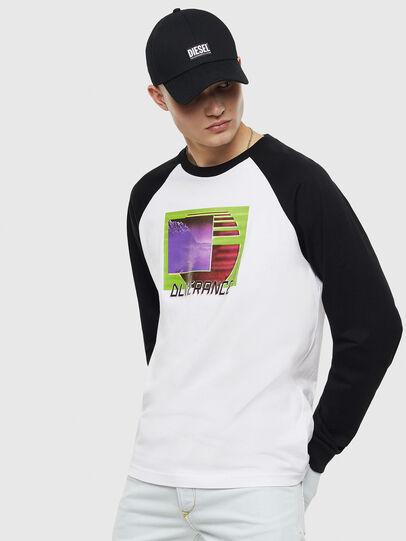 Diesel - T-RODDI, Blanco/Negro - Camisetas - Image 1