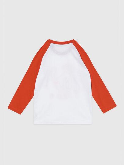 Diesel - TBALYB-R, Blanco/Naranja - Camisetas y Tops - Image 2