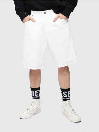 Diesel - D-WILLOH, Blanco - Shorts - Image 1