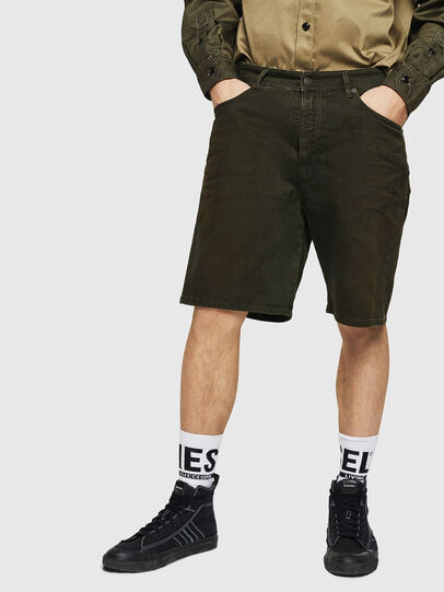 Diesel - D-WILLOH, Verde Oscuro - Shorts - Image 1