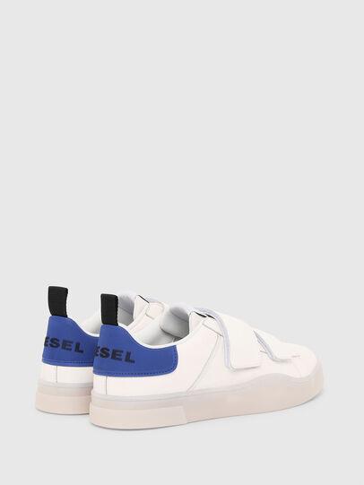 Diesel - S-CLEVER LOW STRAP, Blanco/Azul - Sneakers - Image 3
