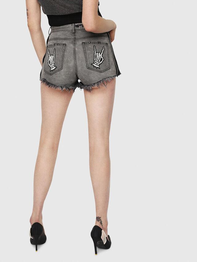 c076c6dc30cc DE-EISE-B Mujer: Pantalones cortos de tiro alto en denim bicolor ...