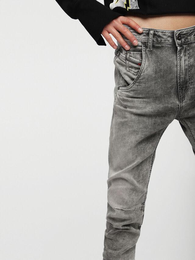 Diesel Fayza JoggJeans 0855B, Gris Claro - Vaqueros - Image 3
