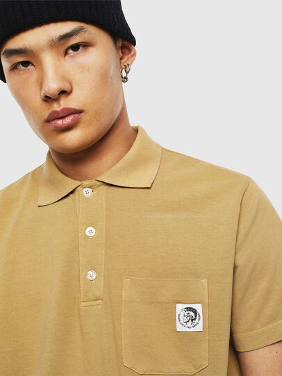 Diesel - T-POLO-WORKY, Marrón Claro - Polos - Image 3