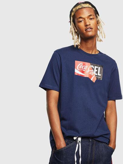 Diesel - CC-T-JUST-COLA, Azul Oscuro - Camisetas - Image 1