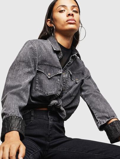 Diesel - DE-COLLY, Negro/Gris oscuro - Camisas de Denim - Image 4