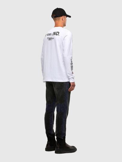 Diesel - T-JUST-LS-N62, Blanco - Camisetas - Image 5