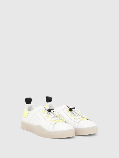 Diesel - S-CLEVER SO C, Blanco/Amarillo - Sneakers - Image 2